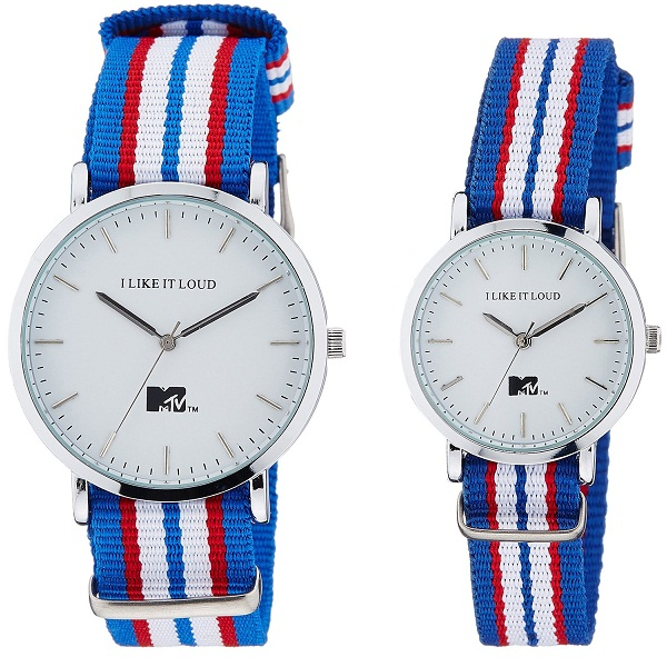 MTV Analog White Dial Pair Watch