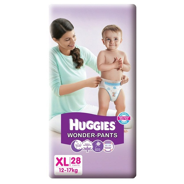 Huggies Wonder Pants Extra Large Size Diapers 28 Count