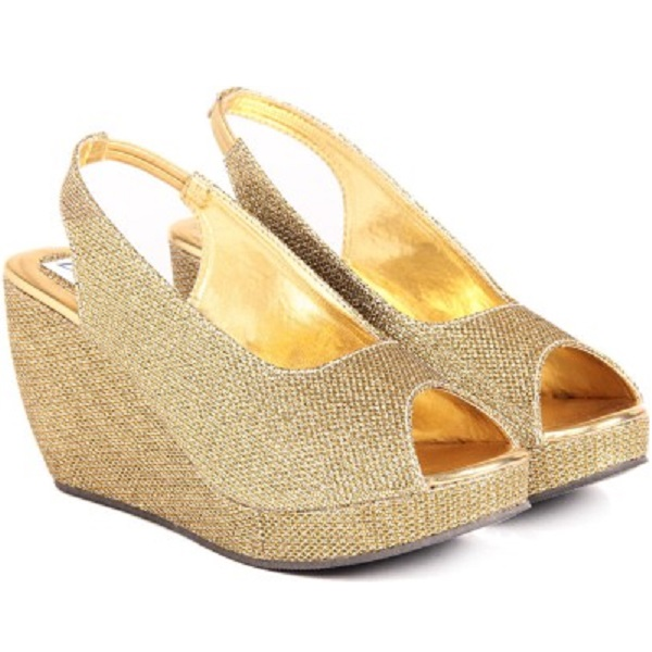 Do Bhai GOLDEN Women Wedges