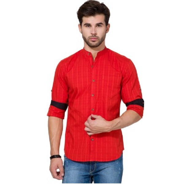 Highlander Mens Solid Casual Shirt