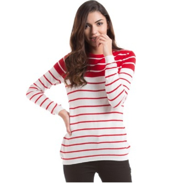 Prym Self Design Round Neck Casual Women's Sweater