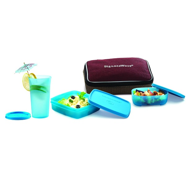 Signoraware Twin Smart Lunch Box with Bag