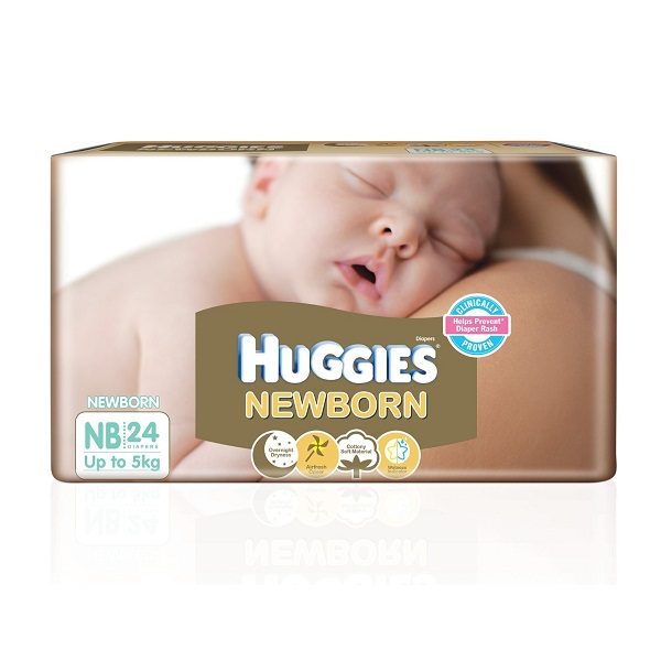 Huggies New Born Diapers 24 Count