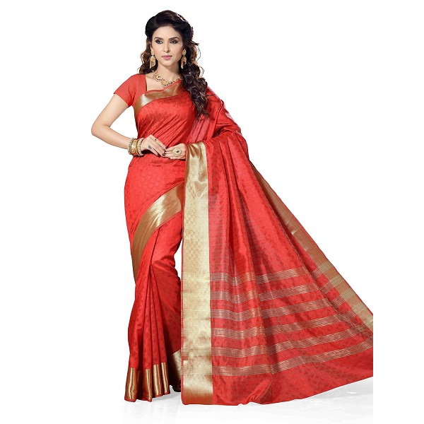 Rani Saahiba Self Design Art Silk Saree