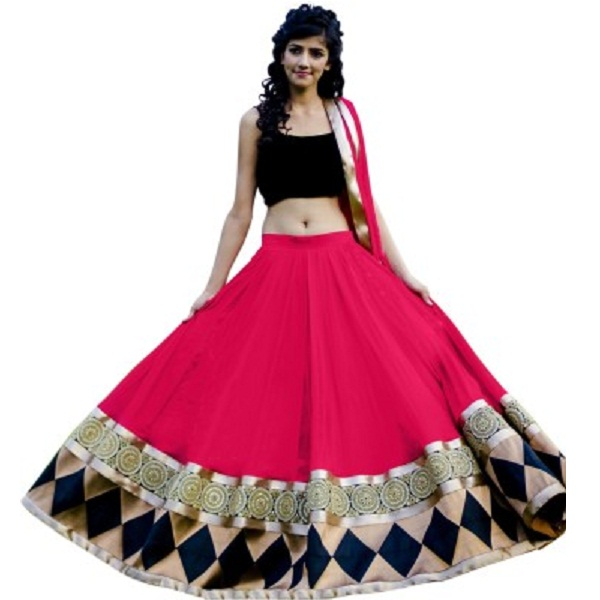 Dreambucket Embroidered Womens Lehenga Choli and Dupatta Set