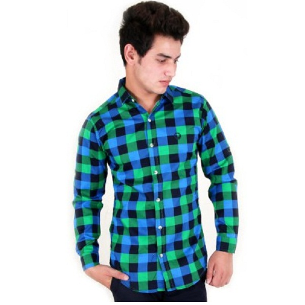 Four Lines Mens Checkered Casual Multicolor Shirt