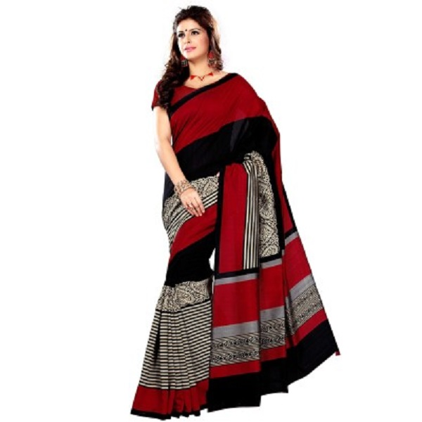 Hitansh Fashion Printed Bhagalpuri Art Silk Sari