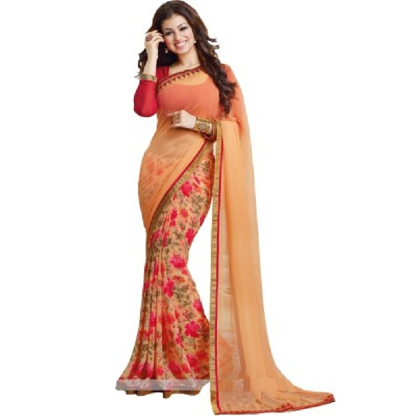 Arya Fashion Floral Print Bollywood Georgette Sari