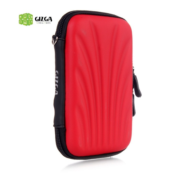 GIZGA HDD CASE SELF Tattoo SEMI HARD SHELL Red Colour
