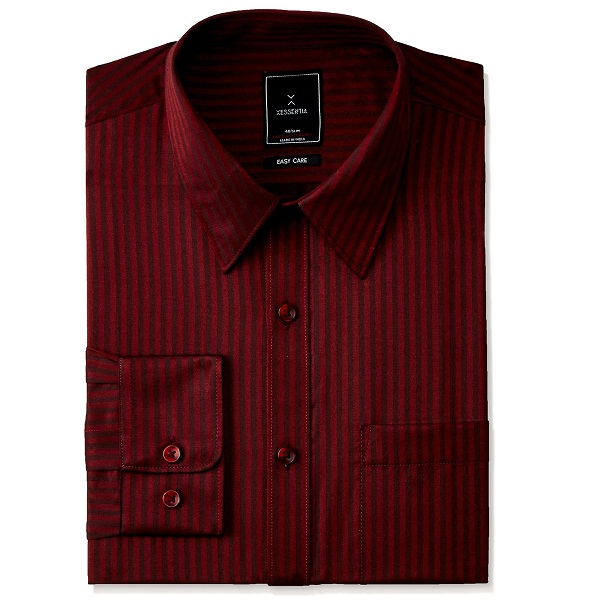 XESSENTIA Mens Evening Dobby Striped Shirt