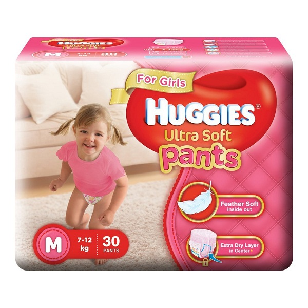 Huggies Ultra Soft Pants Medium Size Premium Diapers
