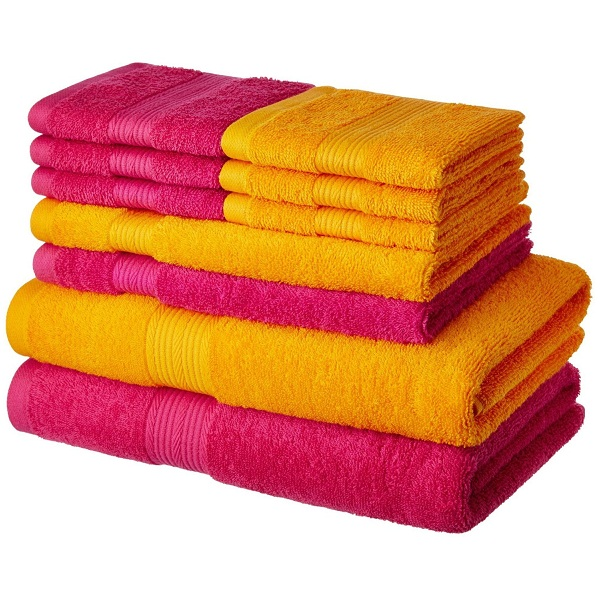 Solimo Cotton 10 Piece Towel Set