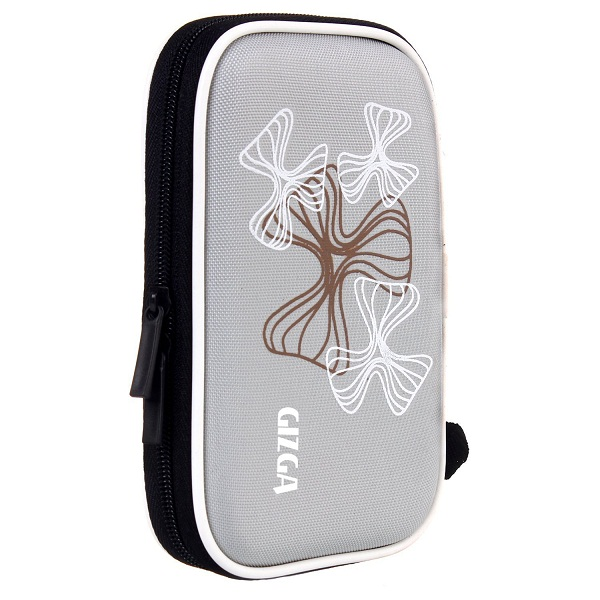 GIZGA HDD CASE Wavy Graffiti Silver Colour