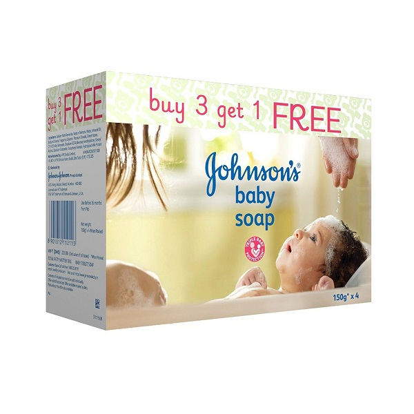 Johnsons Baby Soap 150g Buy3Get1 Free