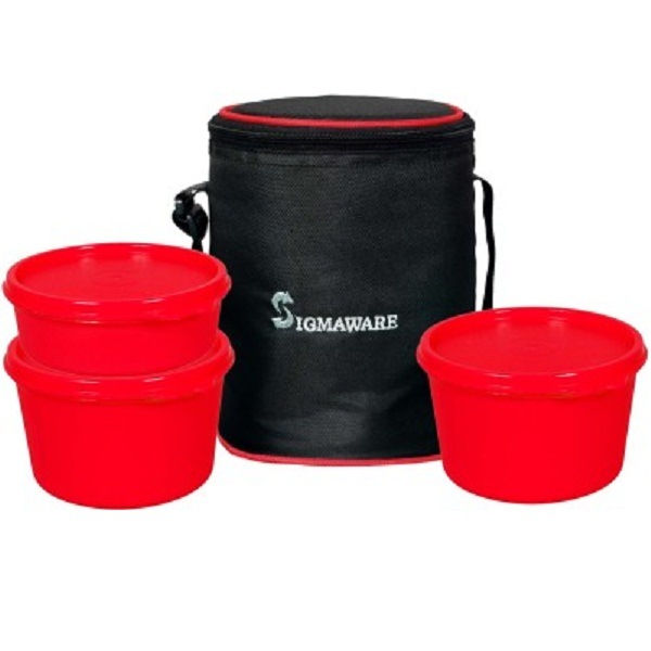 Sigmaware Executive Office Medium 3 Containers Lunch Box