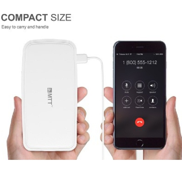 MTT Airpower 15i High Capacity Dual USB Output Compact Design Powerbank 15000 mAh
