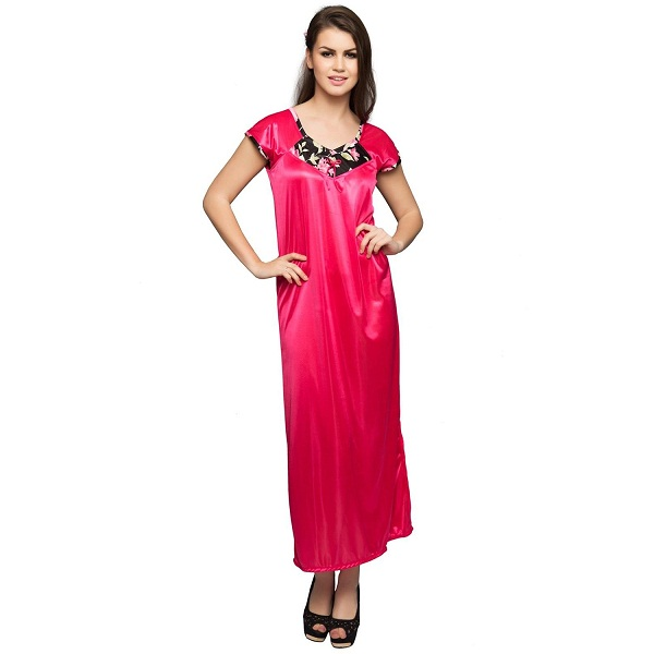 Clovia Womens Satin Nightdress and Nightshirt