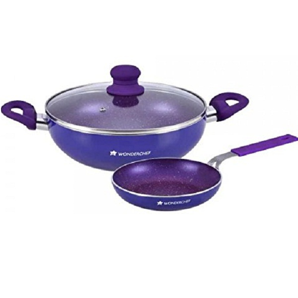 Wonderchef Blueberry Cookware Set 3Pieces