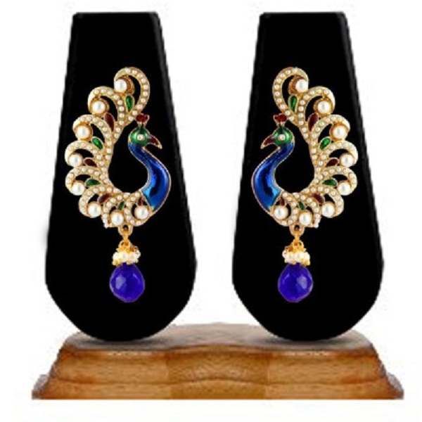 Zaveri Pearls Peacock Persona Zinc Dangle Earring