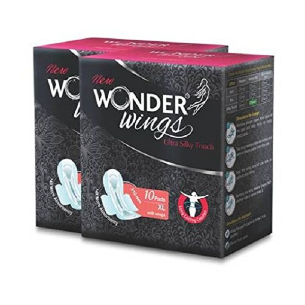 Wonder Wings Ultra Silky Touch XL Sanitary Napkins combo of 2