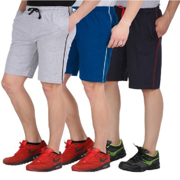 CHECKERSBAY Solid Mens Sports Shorts Combo