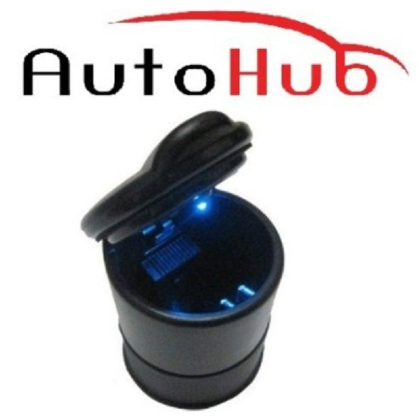 Auto Hub Black Plastic Ashtray