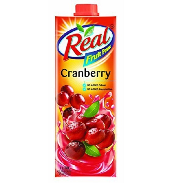 Real Cranberry Fruit Power 1L