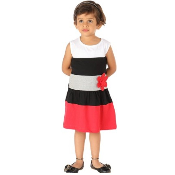 Lil Orchids Girls A line Red Dress