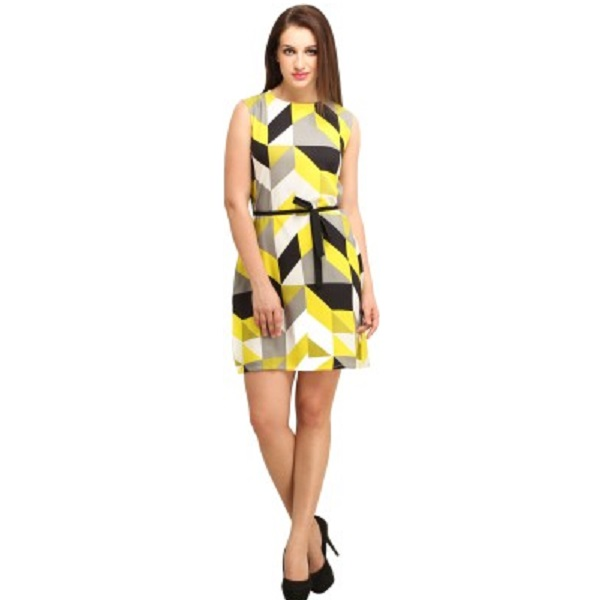 Color Fuel Womens Sheath Multicolor Dress