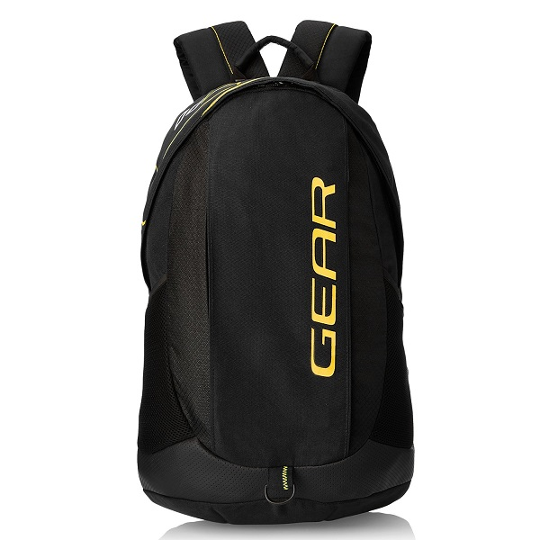 Gear 27 ltr Black and Yellow Casual Backpack
