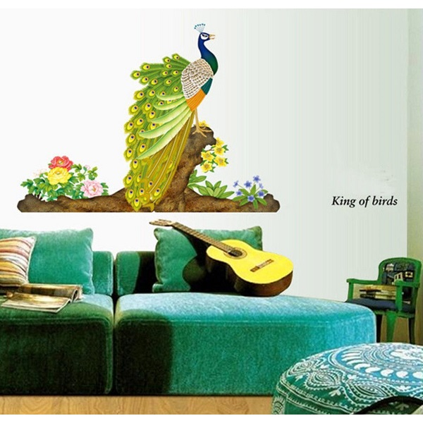 Decals Design 209 StickersKart Wall Stickers Colorful Decorative Peacock Bird