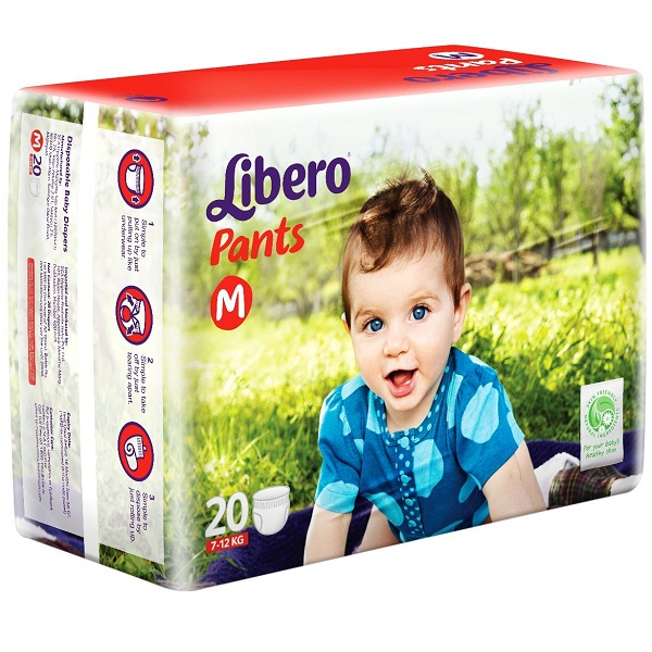 Libero Medium Size Diaper Pants 20 Counts