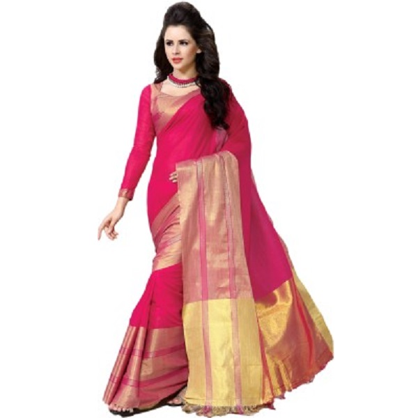 MS Retail Solid Fashion Handloom Cotton Sari