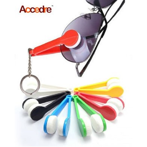 Accedre Mini Microfiber Eyeglasses Cleaner with Keyring Pack of 2