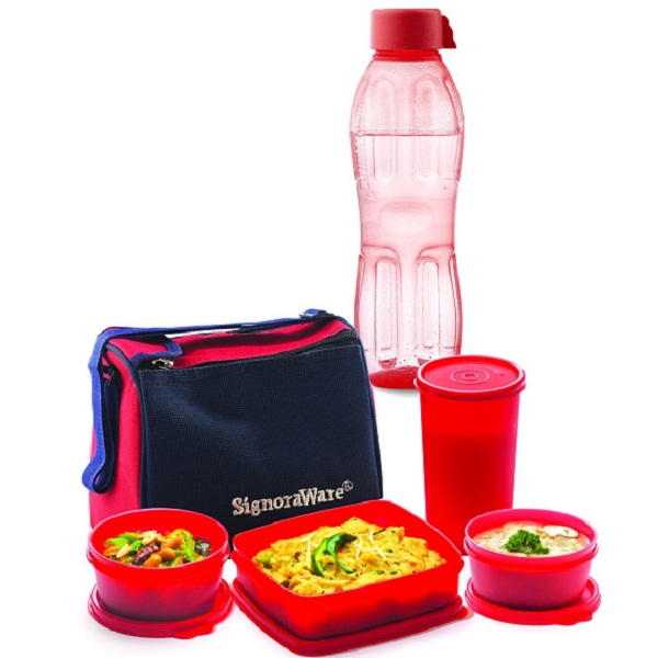Signoraware Best Lunch Box Aqua Bottle 500ml Free