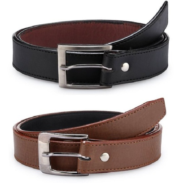 Mens combo of 2 Leather Belt