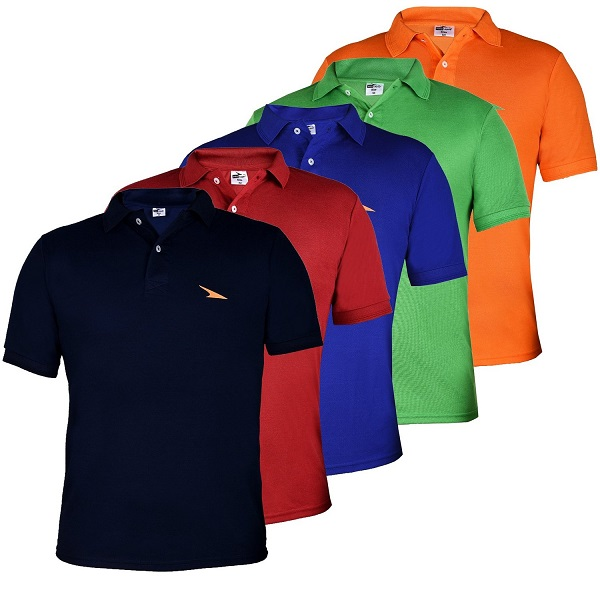 PRO Lapes Mens Multicolor Polo TShirt Set of 5