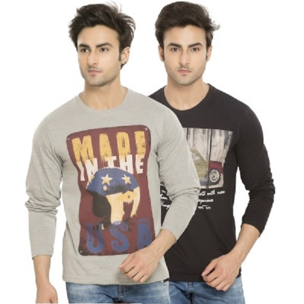 Alan Jones Printed Mens TShirt Pack of 2