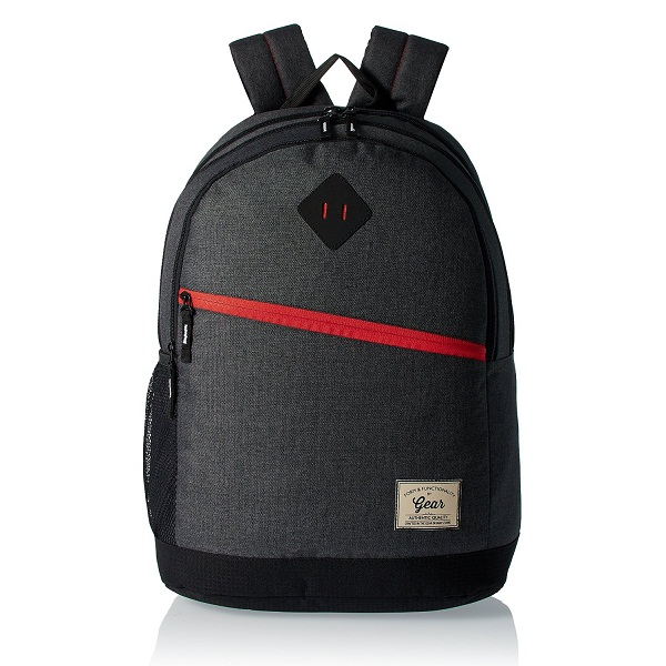 GEAR Grey and Orange EcoCasual Backpack