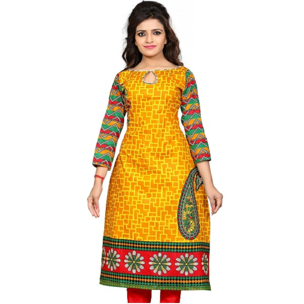 Nakoda Womens Cotton Unstitched Kurti