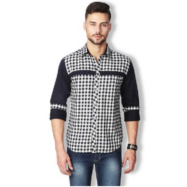 Rodid Mens Checkered Casual Shirt