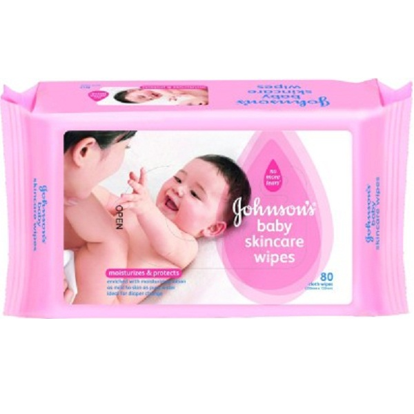 Johnsons Baby Skincare Wipes 80 Pieces