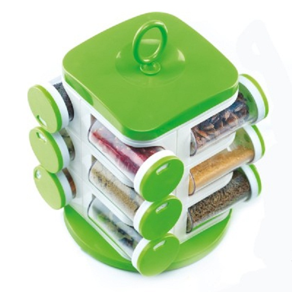 Jony Multipurpose Revolving Spice Rack 12 Piece Condiment Set