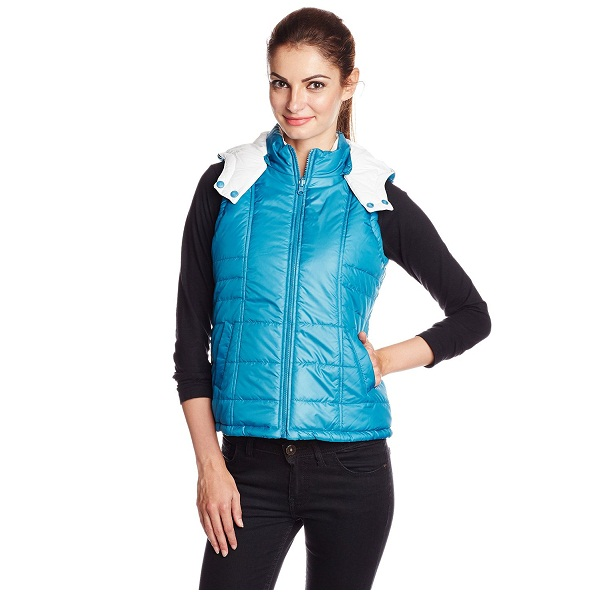 People Womens Quilted Casual Jacket