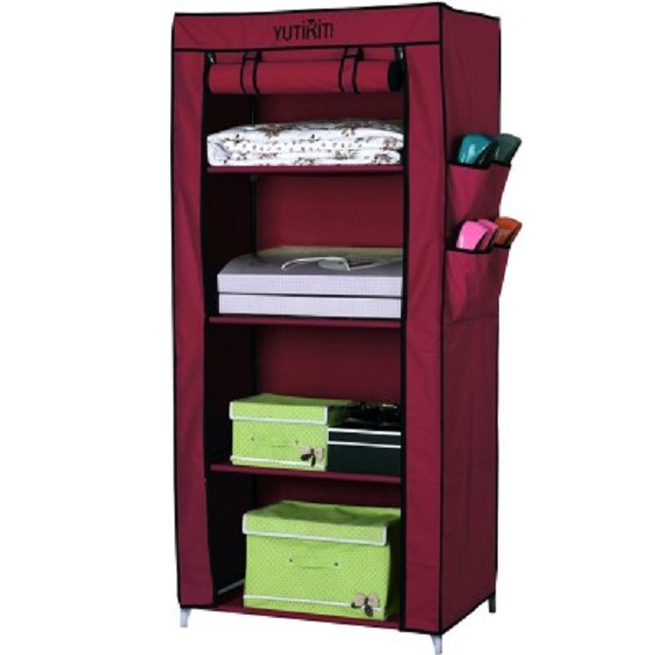 Yutiriti Fancy Portable Aluminium Collapsible Wardrobe
