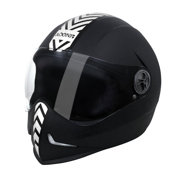 Steelbird Adonis Dashing Full Face Helmet with Silver Sticker