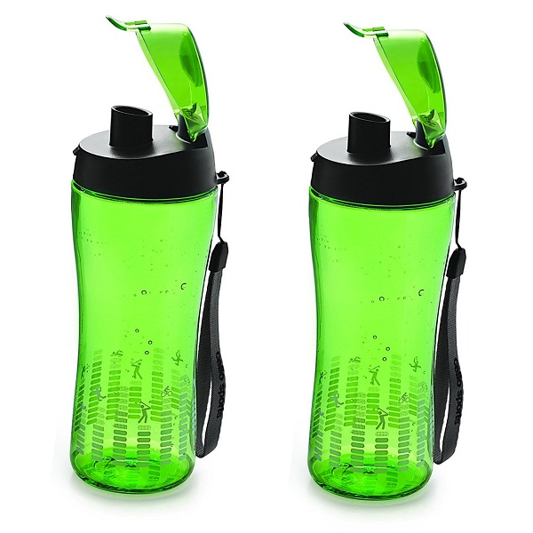 Cello Sprinter Sports Bottle Set Of 2 In Green Colour