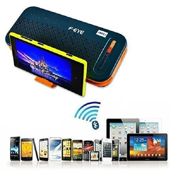 F EYE Mobile Bluetooth Speaker with Call Attending Option Rechargable with 5000mAh Power Bank