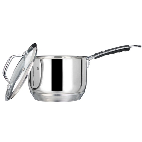 Nirlep Stainless Steel Sauce Pan with Glass Lid