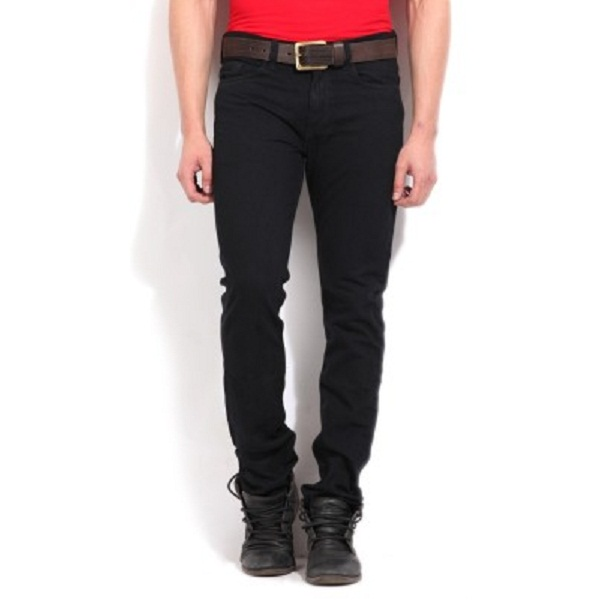 Newport Slim Fit Fit Mens Black Jeans